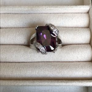 Jewelry - New! Amethyst & Sterling Silver Cocktail Ring